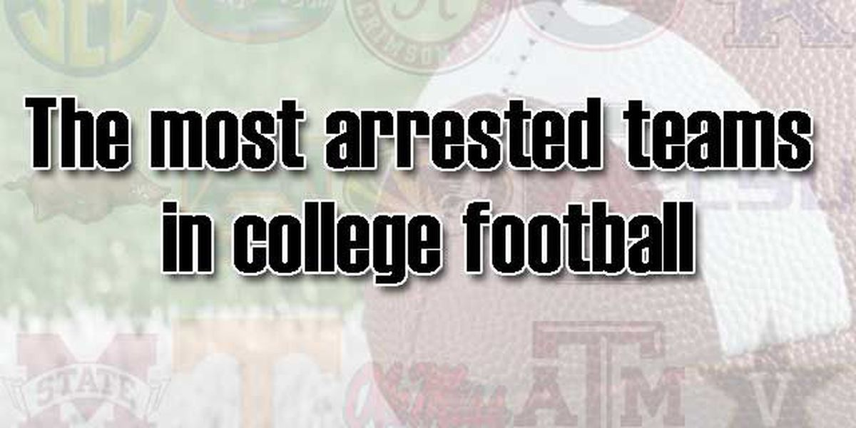 RANKING: The most arrested teams in college football