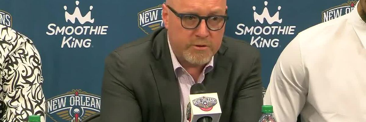 Pelicans VP David Griffin introduces 4 players acquired in off-season trades