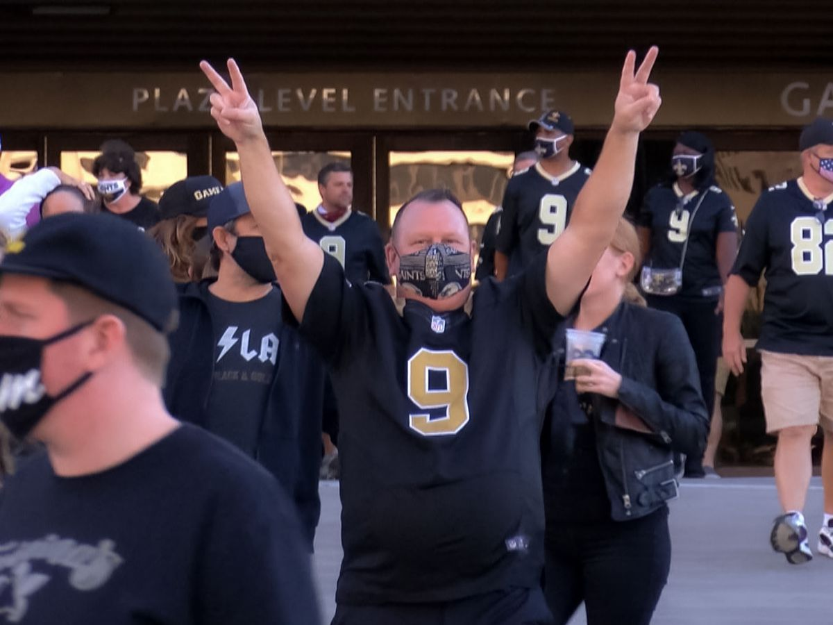 Saints fans worry for future of fans in dome given rising covid cases