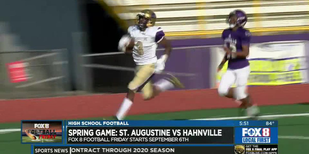Sampson accounts for four TD's in St. Aug's victory over Hahnville in spring game