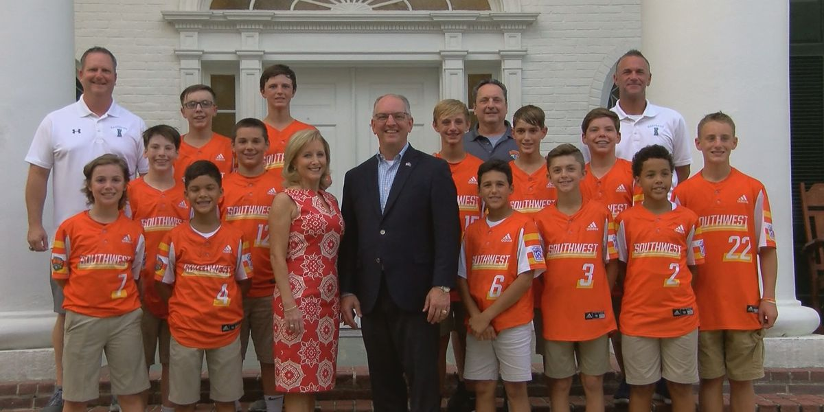 World Series winning Little League team treated at La. Governor's Mansion