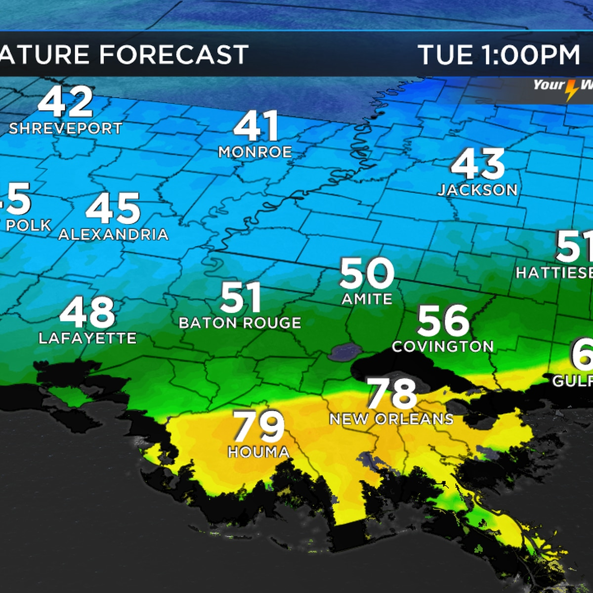 Zack: Strong front on the way this week