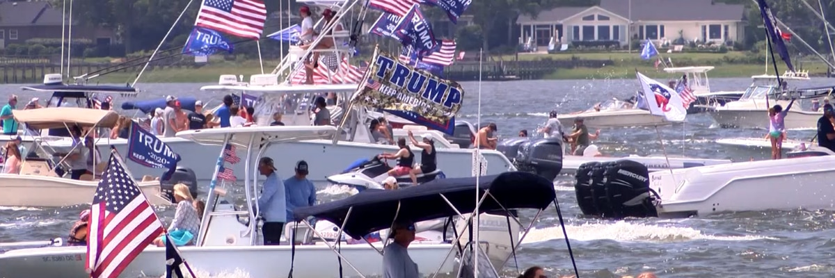 Hundreds show on and off the water for 'MAGA' boat parade