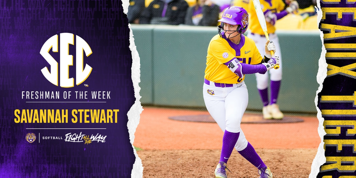 Savannah Stewart earns SEC Freshman of the Week
