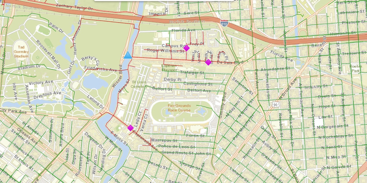 Over 500 without power in the Fairgrounds neighborhood