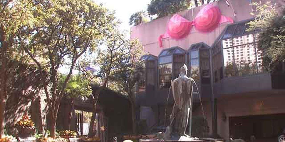 300 lb. pink bra helps raise awareness for breast cancer survivors