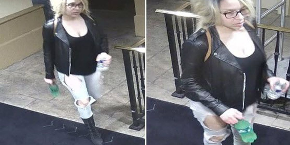 Police: Woman sought for stealing items from sleeping man in hotel room