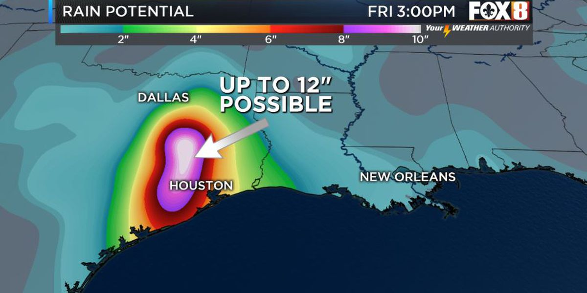 Gulf disturbance brings Texas flood threat