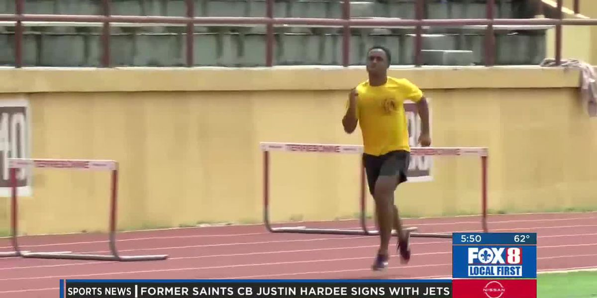 Terrebonne's Jaylin Lucas excels everywhere from football to the track