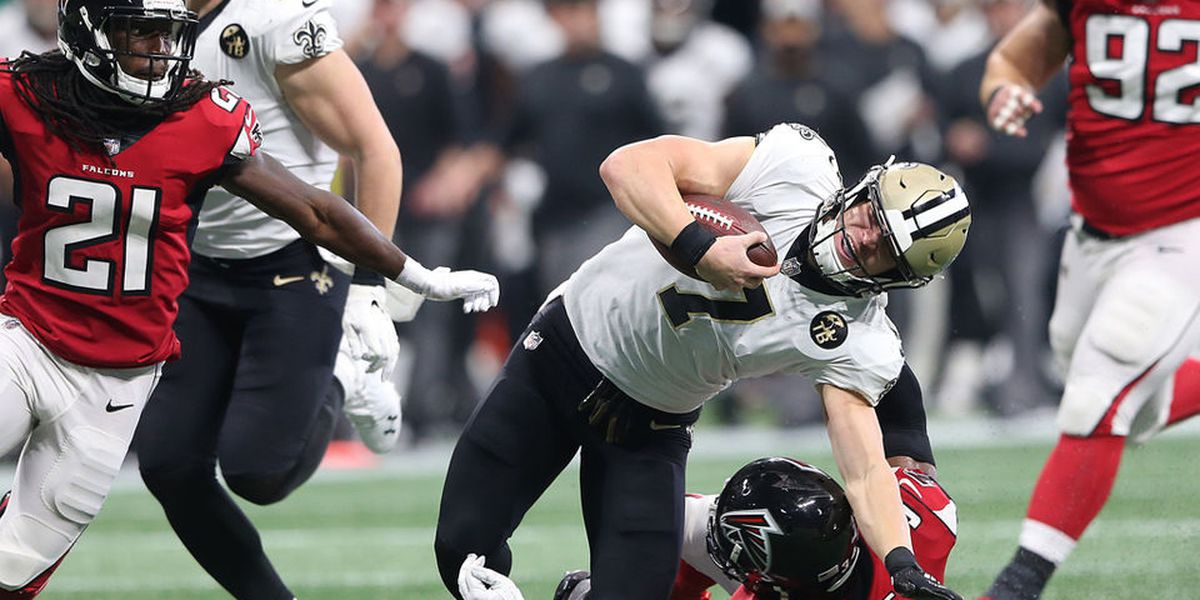 Taysom Hill excels against the Falcons on special teams and at quarterback