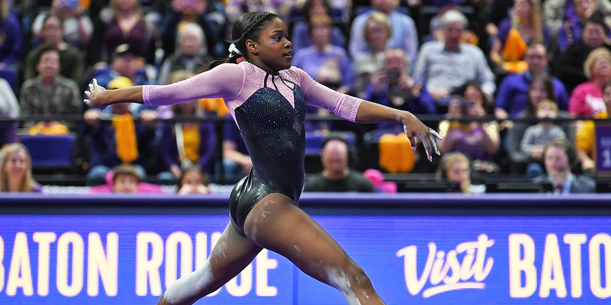 LSU gymnastics remains unbeaten with win over Auburn