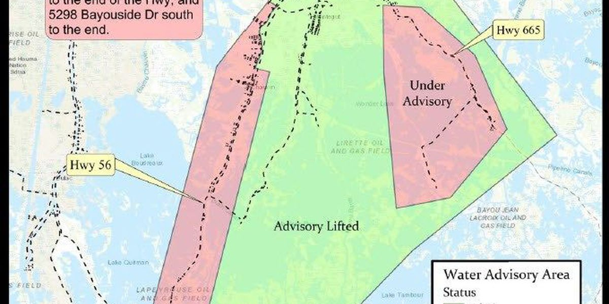 Boil Water Advisory partially lifted in Terrebonne Parish