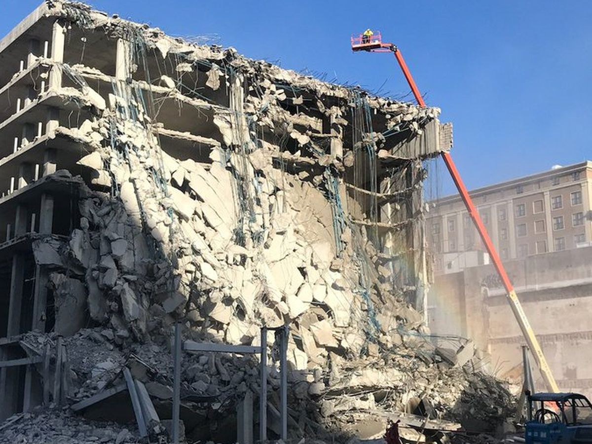 Controlled demolitions taking place at Hard Rock site