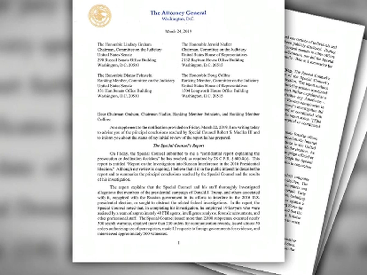 La. representatives respond to summary of Mueller investigation