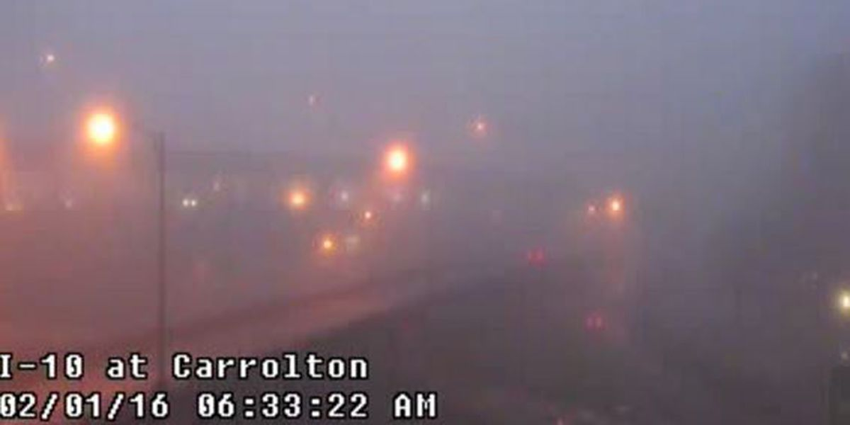 Traffic Now: Motorists should take it slow on a foggy Monday morning commute