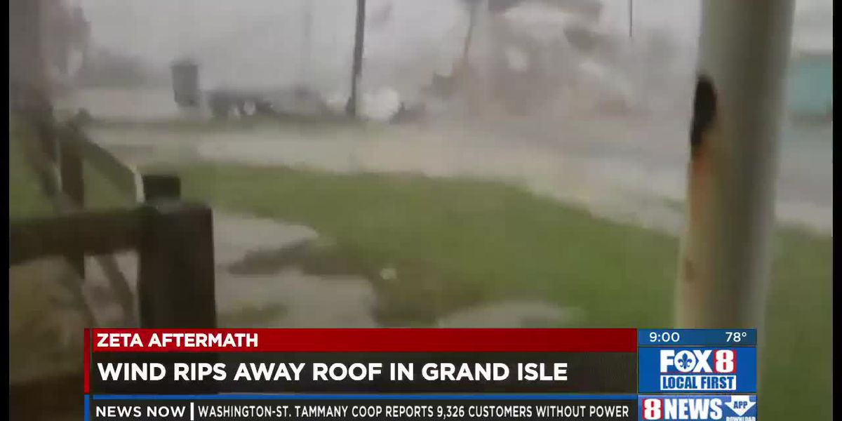 Zeta Aftermath: Grand Isle Roof Ripped Off, New Orleans Building Blasted
