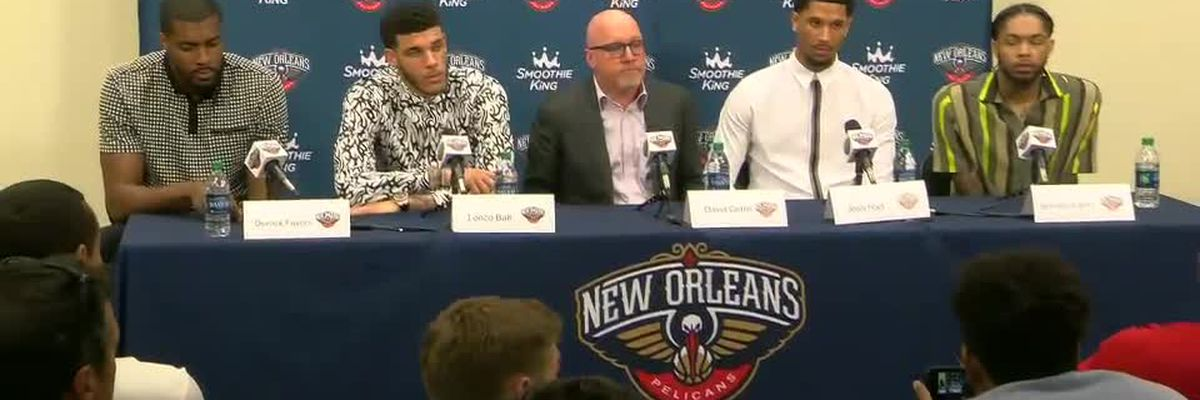 Pelicans introduce Favors, Ball, Hart, Ingram