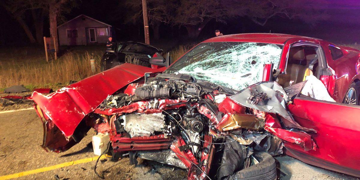 Covington crash demolishes car, victims saved by seatbelts