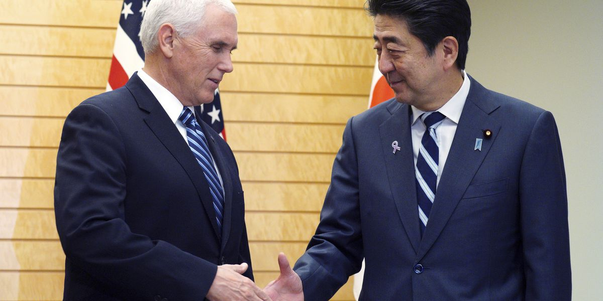 Pence, Abe agree on North Korea sanctions, new trade talks