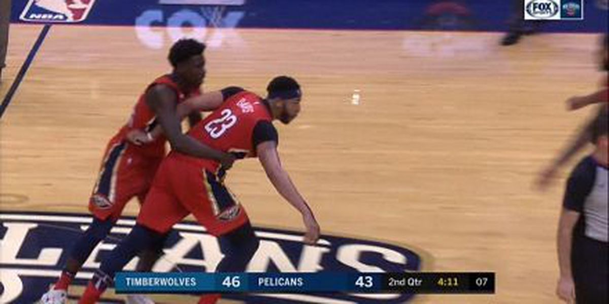 Pelicans lose Anthony Davis to first career ejection