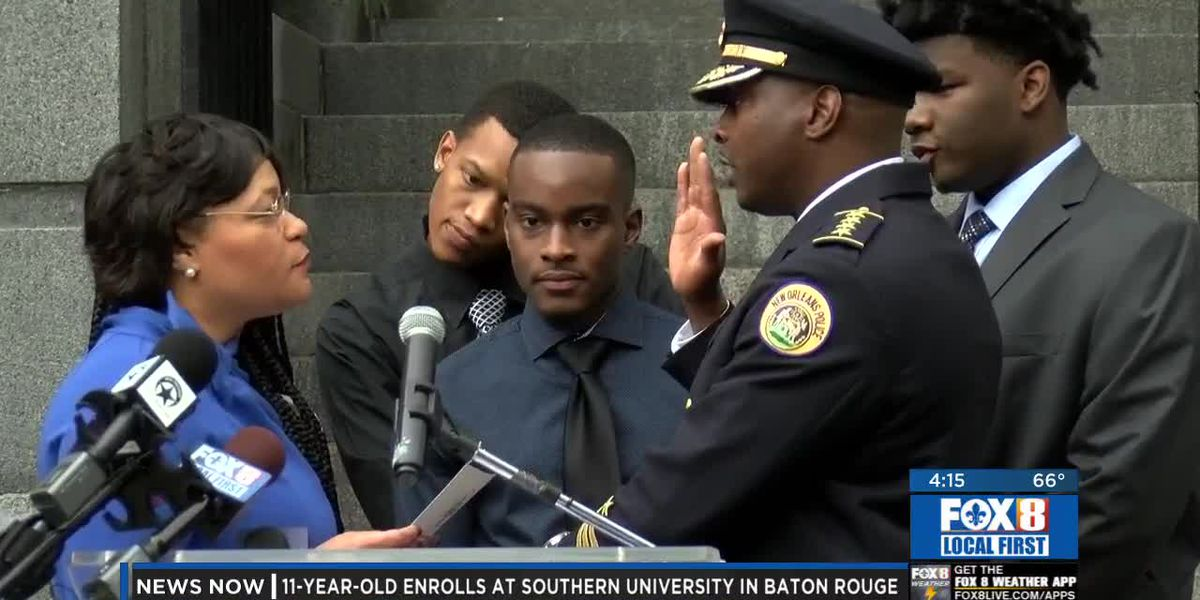 City's new police chief takes the oath, reaches out to community