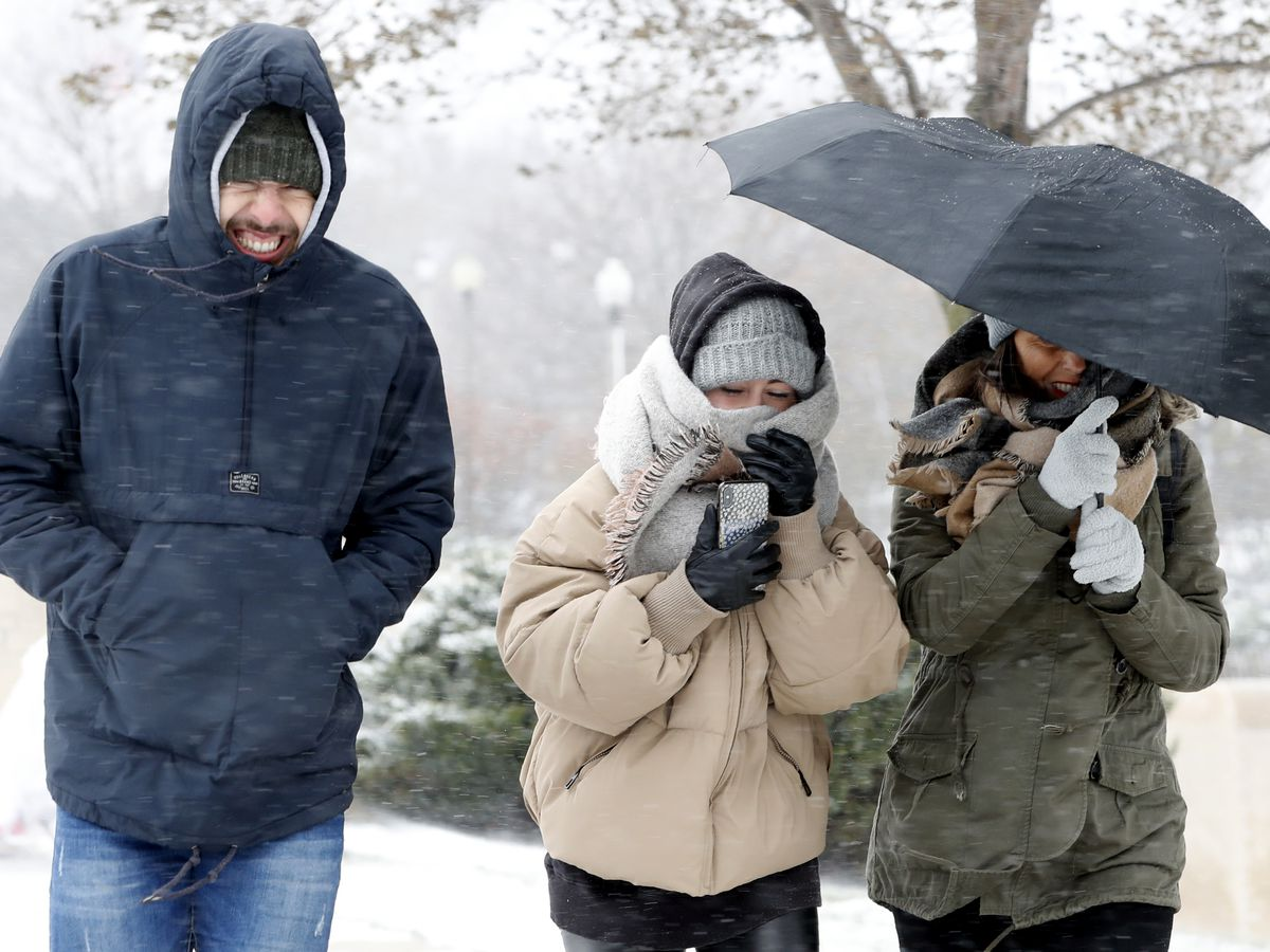 Snow and cold records fall as arctic air mass lingers
