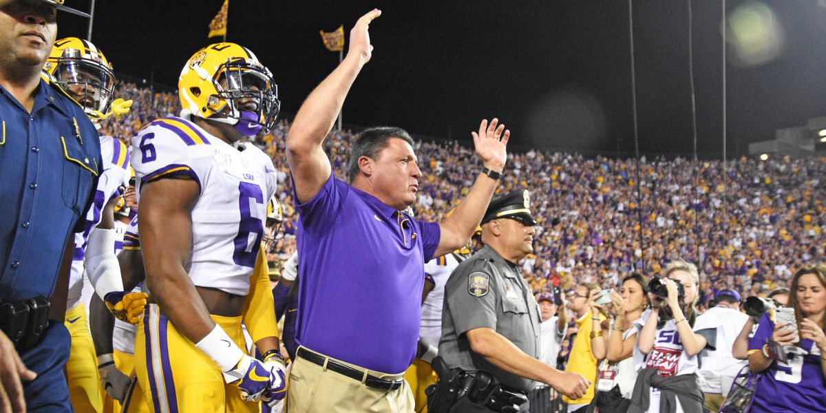 LSU claims No. 1 ranking in College Football Playoff