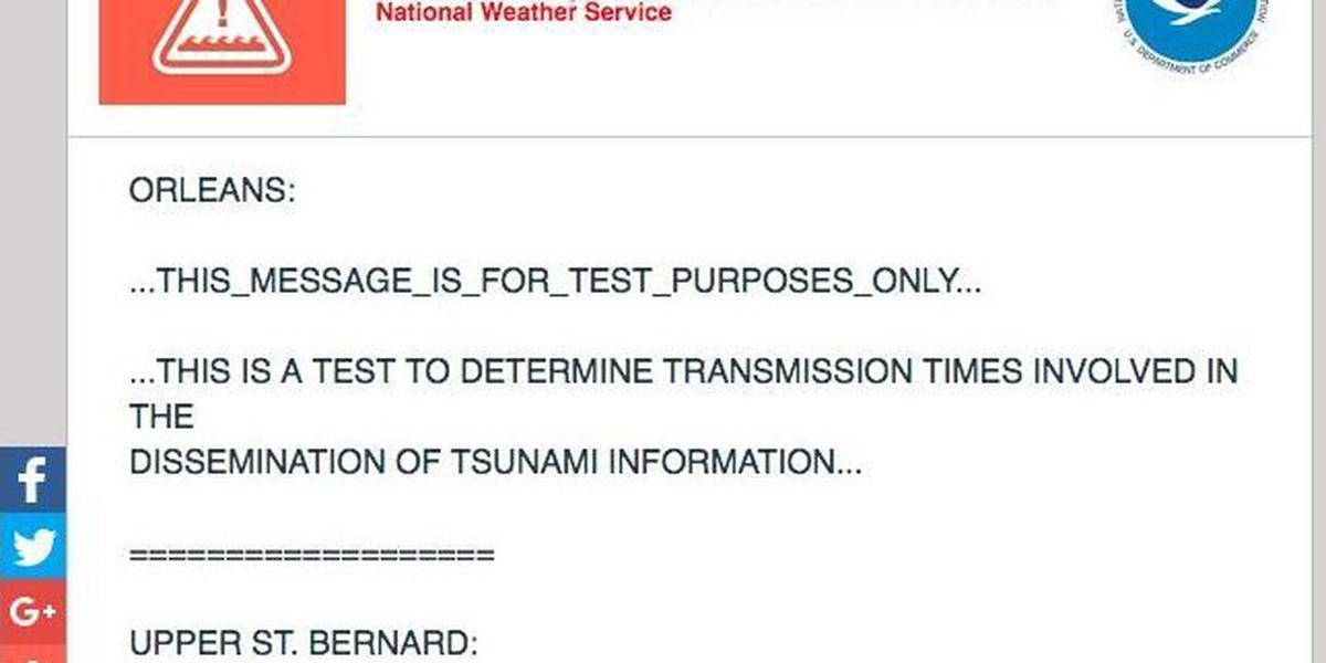 NWS: No tsunami warnings in effect for Gulf Coast