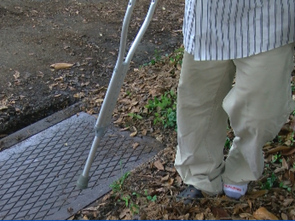 FOX 8 Defenders: Man reaches out after falling into uncovered storm drain