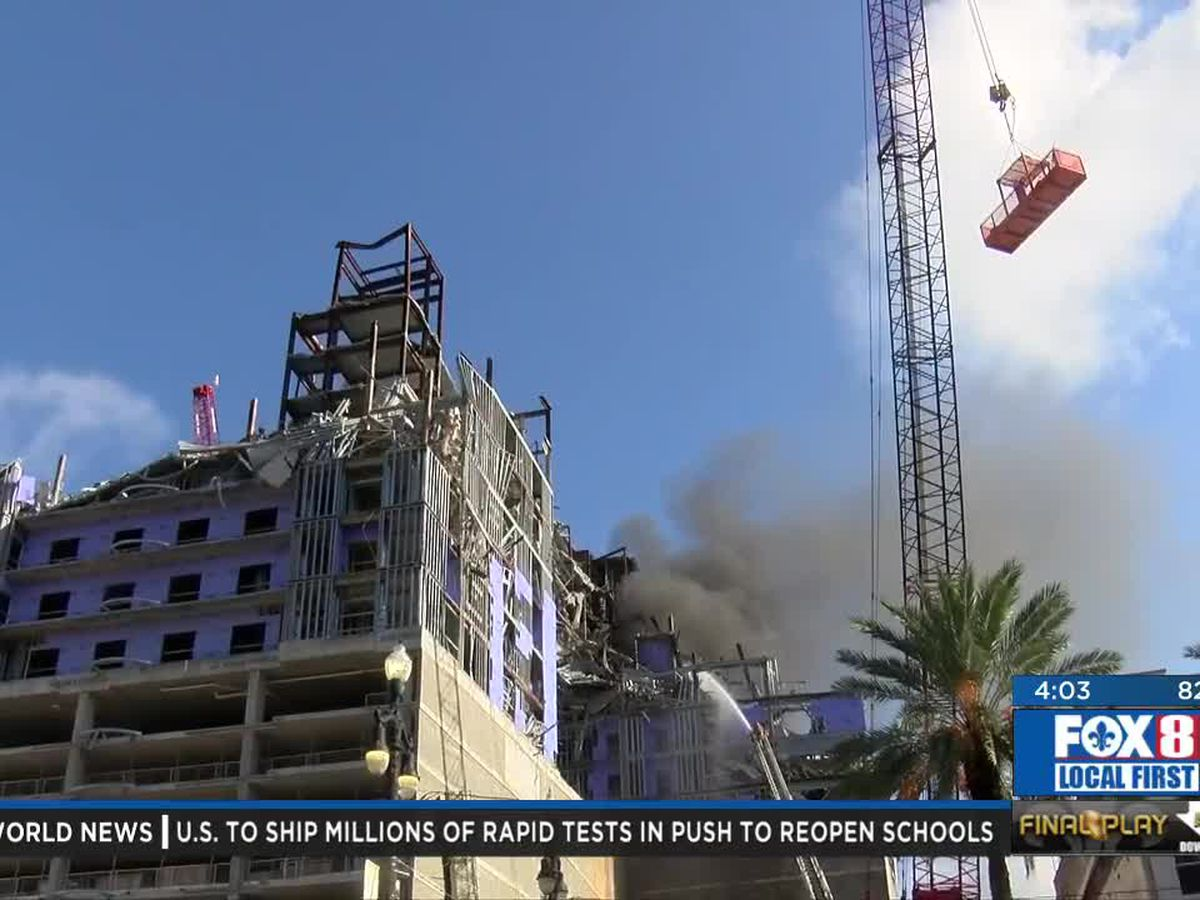 Crews cutting steel sparked fire at Hard Rock collapse site