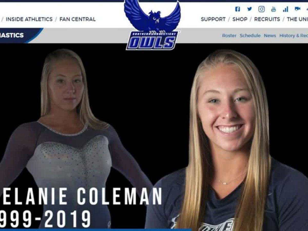 College gymnast who died from training injury mourned