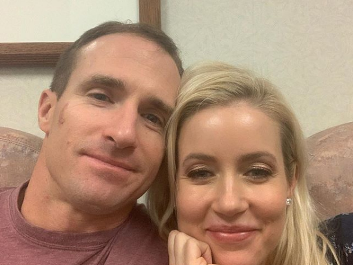 Drew Brees heads into thumb surgery with Brittany by his side