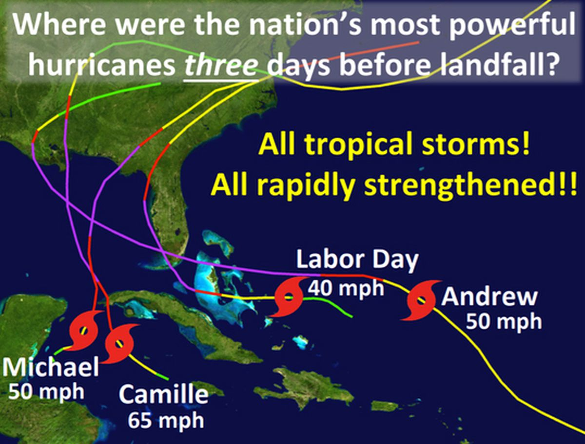 All four Category Five U.S. hurricanes rapidly intensified before ...