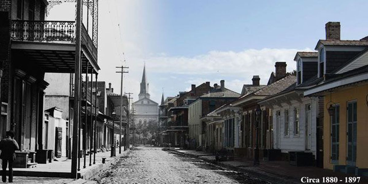 NOLA 300: Scenes from the French Quarter, then and now