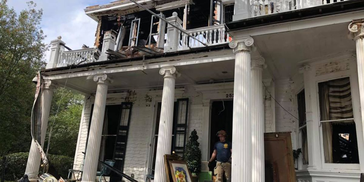 Clean-up continues at destroyed historic home