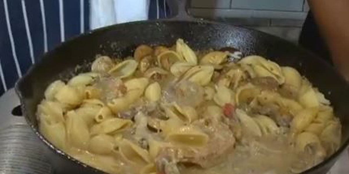 Chef John Folse: Creamy shrimp & mushroom pasta