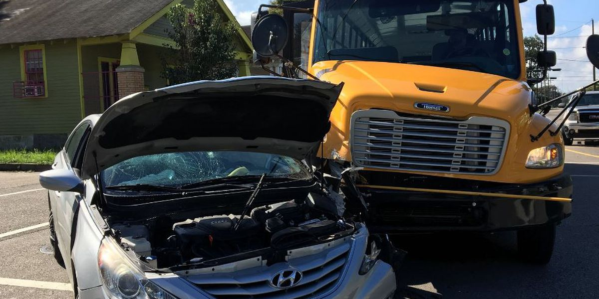NOPD investigating car vs. school bus crash in Lower Ninth Ward