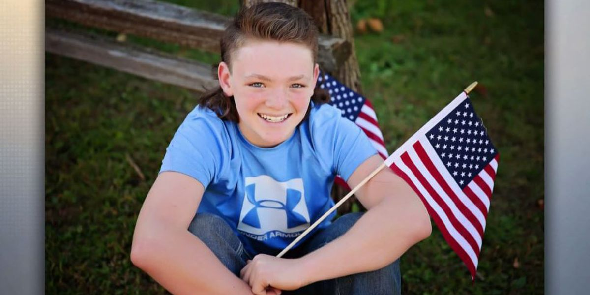 'The Freedom Flapper': Illinois boy, 12, competes for top mullet in US