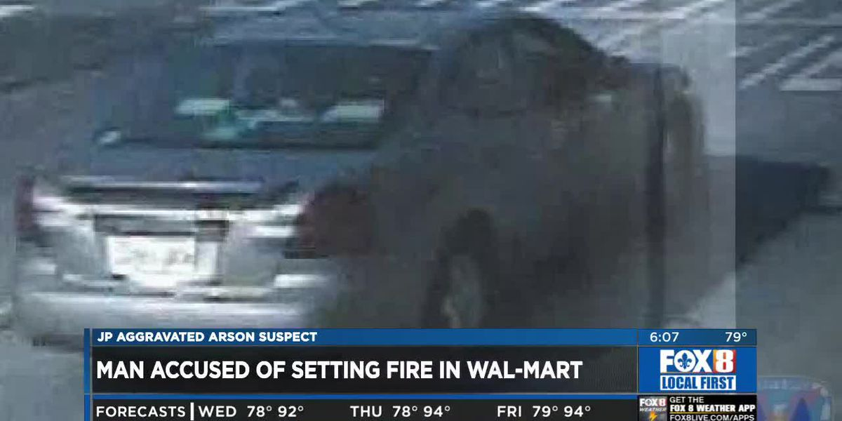 JPSO: Suspect in Walmart Halloween section arson caught on surveillance