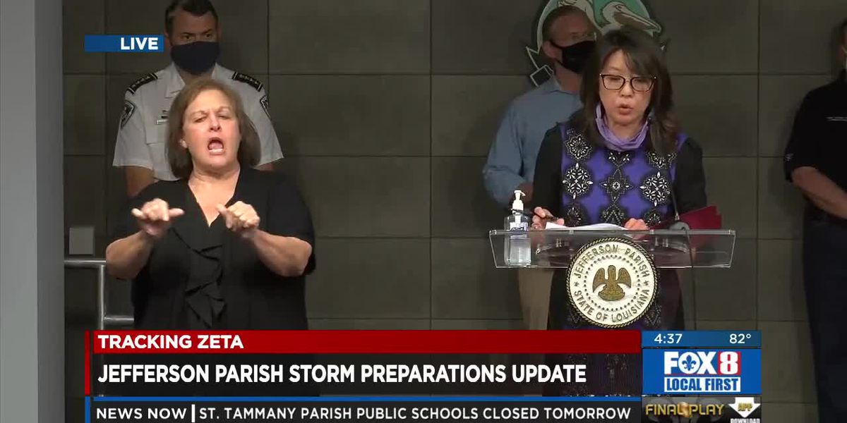 Jefferson Parish officials discuss Zeta preparations