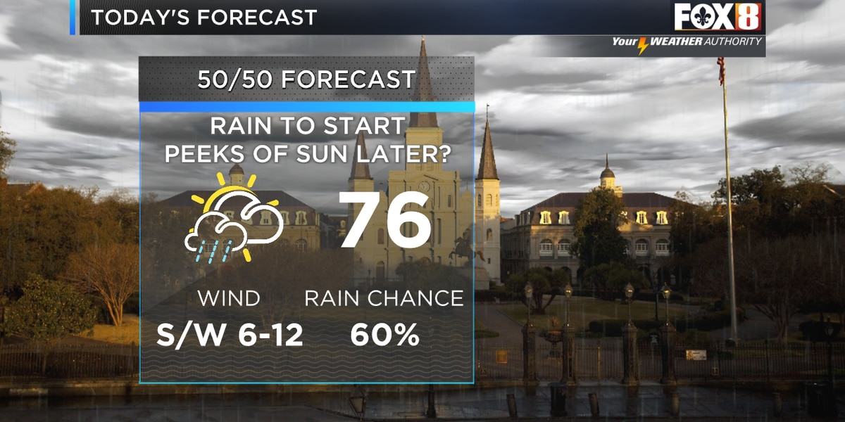 Zack: Rain early, drier this afternoon
