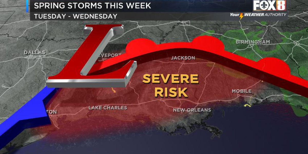 Severe weather threat this week
