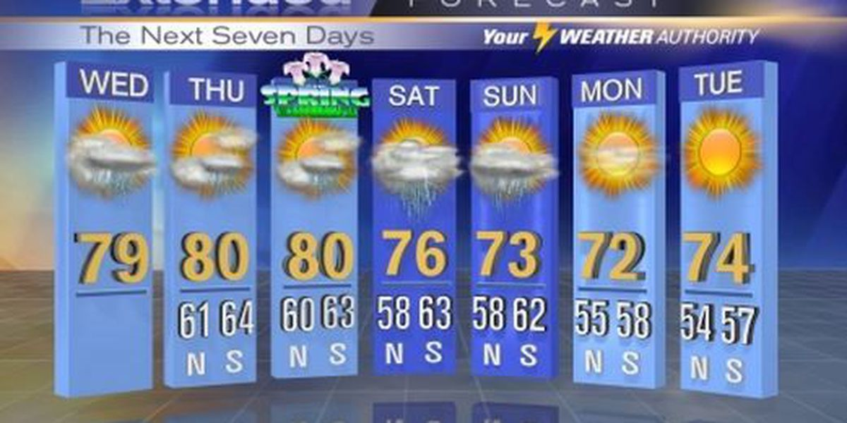 Warm temperatures persist with a chance of afternoon showers