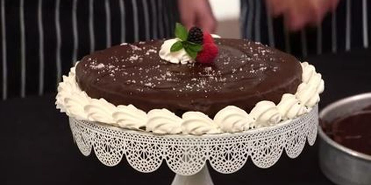 Chef John Folse: Red wine chocolate ganache cake
