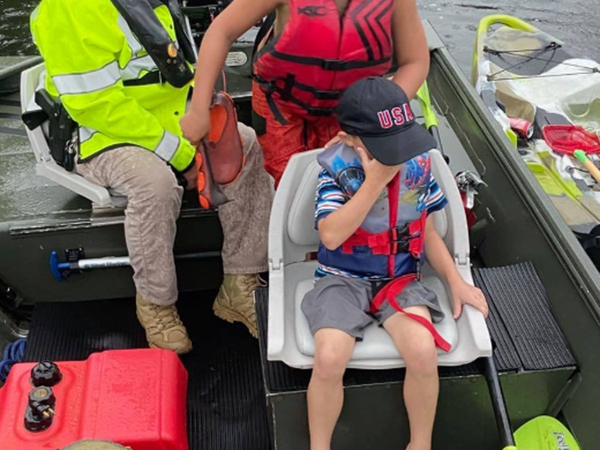 Sheriff's marine division rescues 4 kids, 4 adults during St. Tammany Parish storm