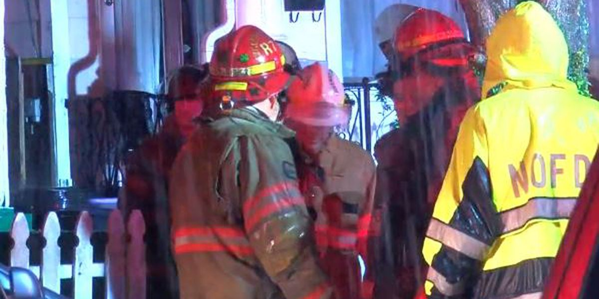 Man 'lucky to be alive' after Dumaine St. fire