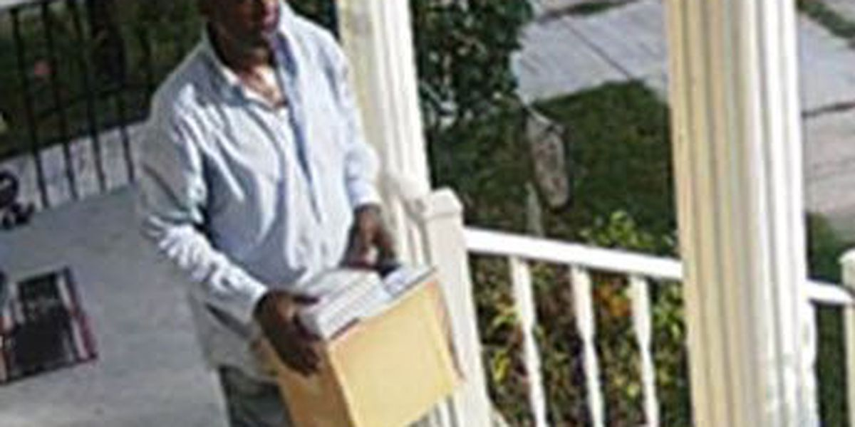 Package thief caught red-handed