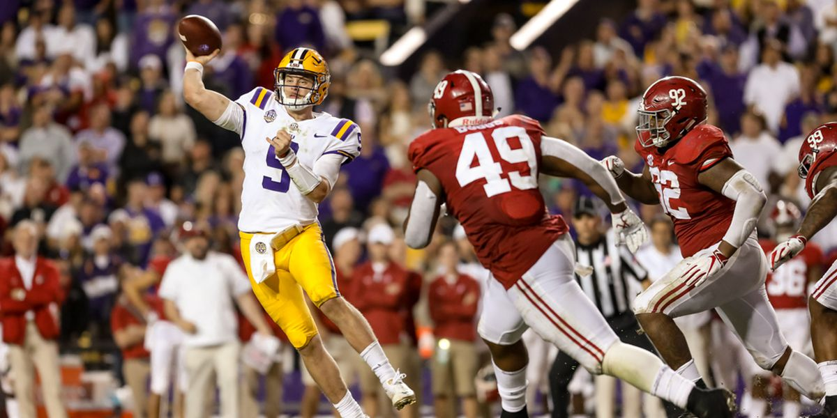 Alabama favored by 10.5-points over LSU