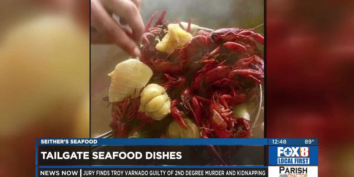 Seither's Seafood cooks up tailgating dishes