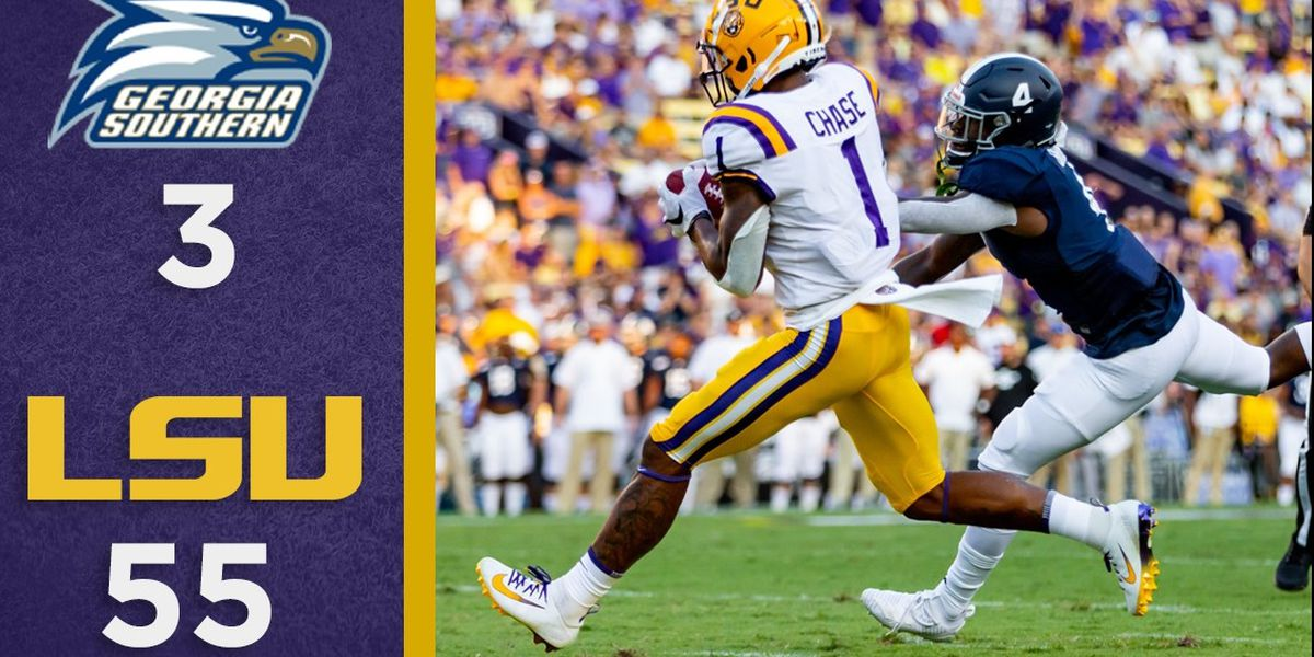 Overtime Podcast #62 - LSU cruises in Week 1 vs Georgia Southern